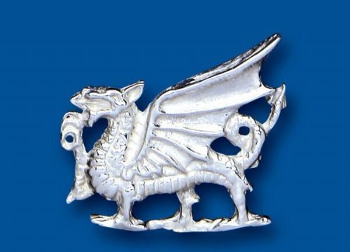 Welsh Dragon Brooch Solid Sterling Silver